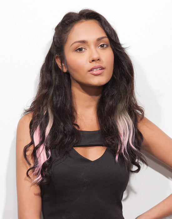 Spotlight Clip-In Hair Ext - Body Wave Babe Pink 2