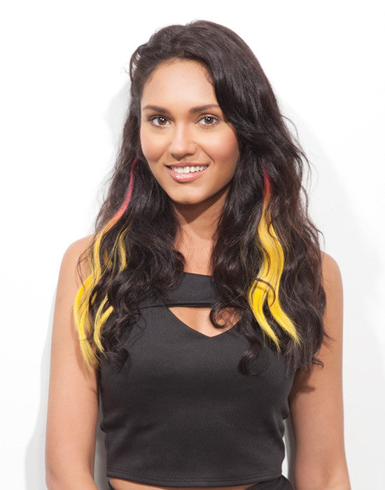 Spotlight Clip-In Hair Ext - Body Wave Pink Banana 2