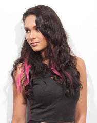 Spotlight Clip-In Hair Ext - Body Wave Pink Berry 2
