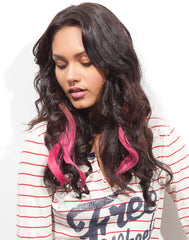 Spotlight Clip-In Hair Ext - Romance Curl Pink Berry 2