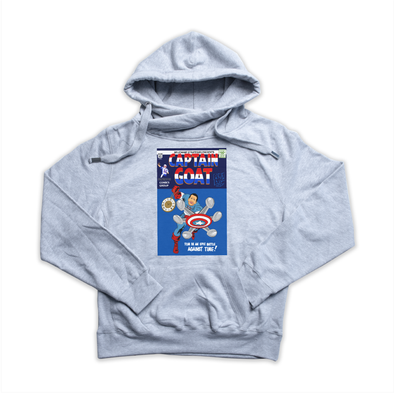 Captain GOAT heather grey Euro Hoody