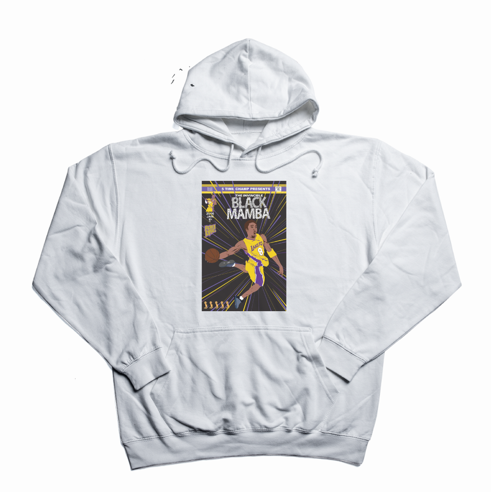 The Invincible Black Mamba white hoody
