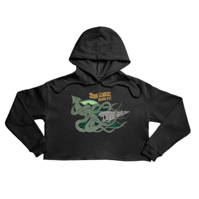 20000 Leagues Under NYC Premium black crop hoody