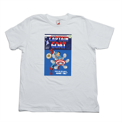 Captain GOAT white tee