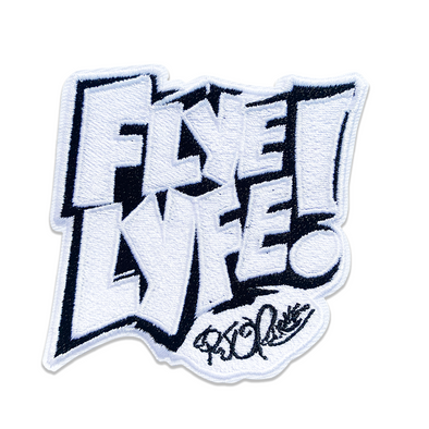 Flye Lyfe! black & white patch
