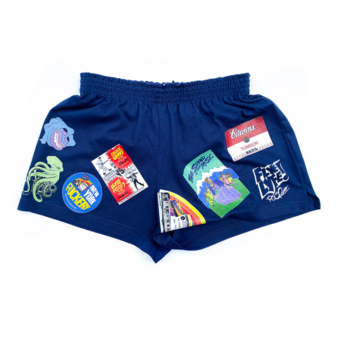 Navy Ladies' Athletic Shorts