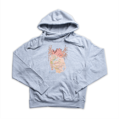 New York City Arteries heather grey Euro Hoody