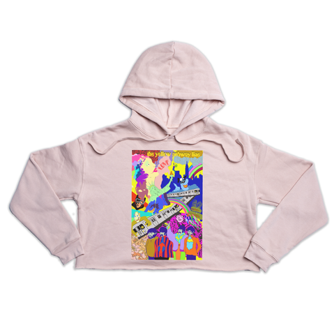 The Yellow Submarine Premium peach crop hoody