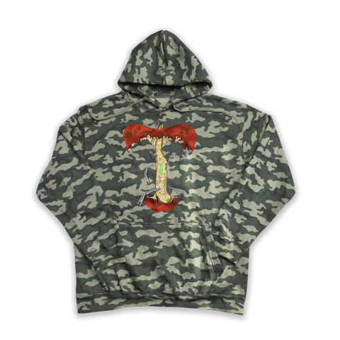 The Apple NYC camouflage hoody