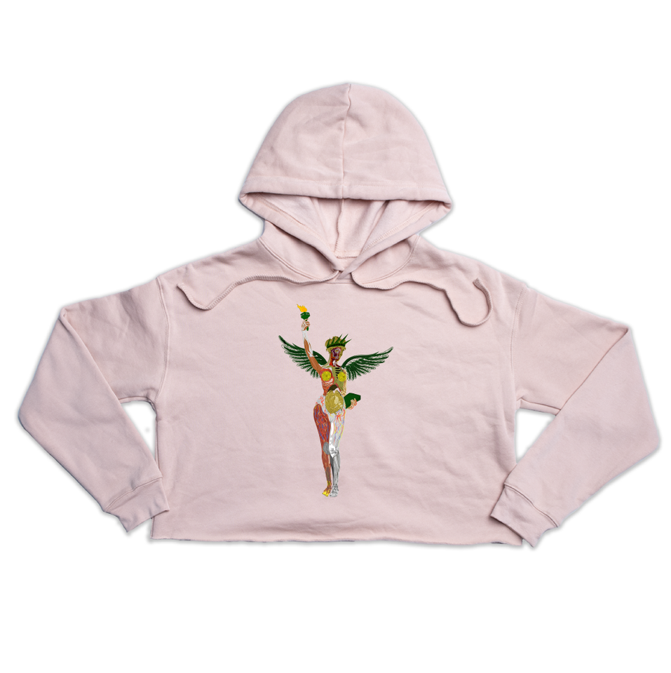 In Utero NY Premium peach crop hoody