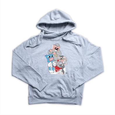 Gumbit x Wine heather grey Euro Hoody