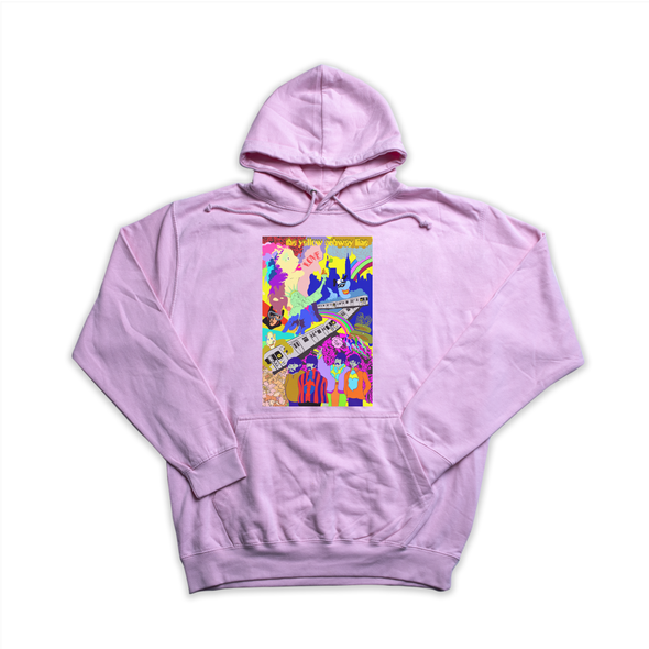 The Yellow Subway Line pink hoody