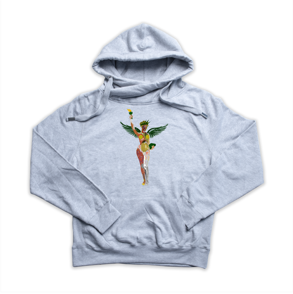 In Utero NY heather grey Euro Hoody