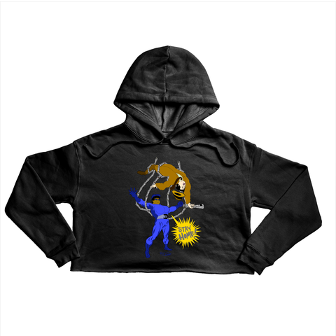 MTA Stay Home Premium black crop hoody