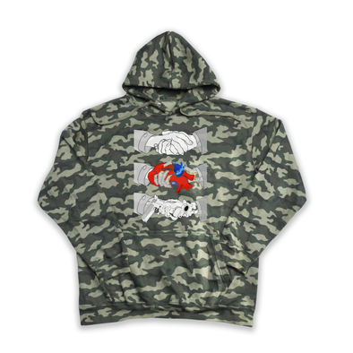 Triptych Handshake camouflage hoody
