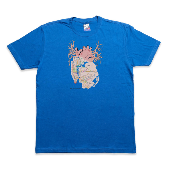 New York City Arteries royal tee
