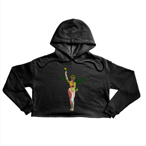 In Utero NY Premium black crop hoody