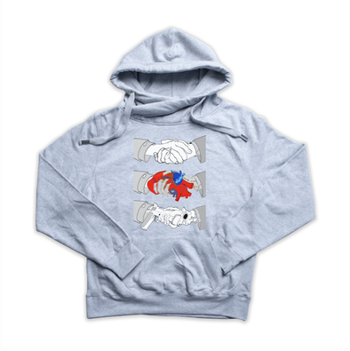 Triptych Handshake heather grey Euro hoody