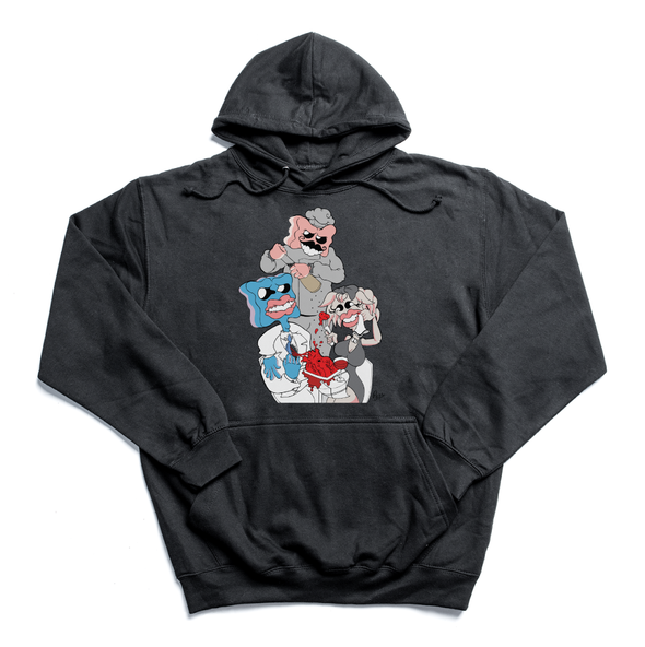 Wine x Gumbit black hoody