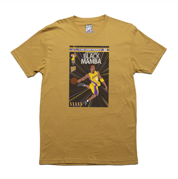 The Invincible Black Mamba mustard tee
