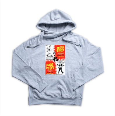 Chuck Berry vs. Elvis Presley heather grey Euro Hoody