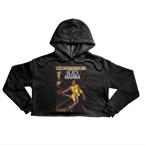 The Invincible Black Mamba Premium black crop hoody