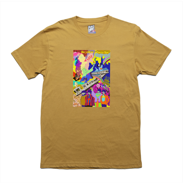 The Yellow Subway Line mustard tee