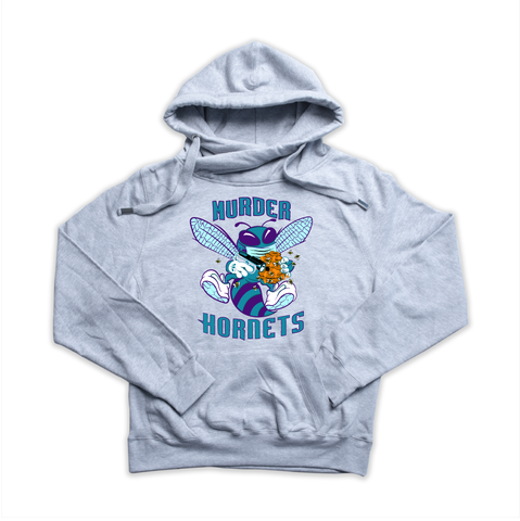 Murder Hornet heather grey Euro Hoody