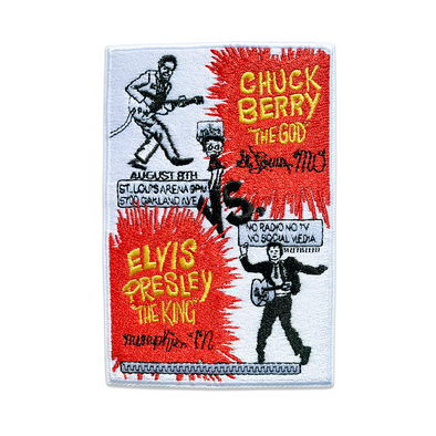 Chuck Berry vs. Elvis Presley patch NEW