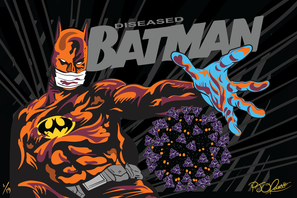 Diseased Batman print