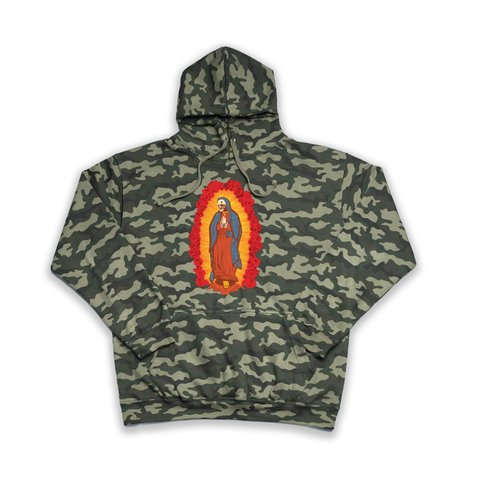 Skull of Guadalupe camouflage hoody