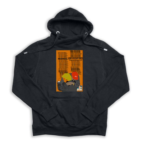 Real Friends black Euro Hoody