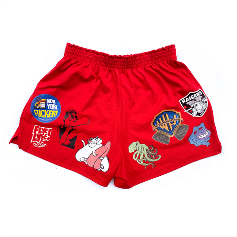 Red Ladies' Athletic Shorts