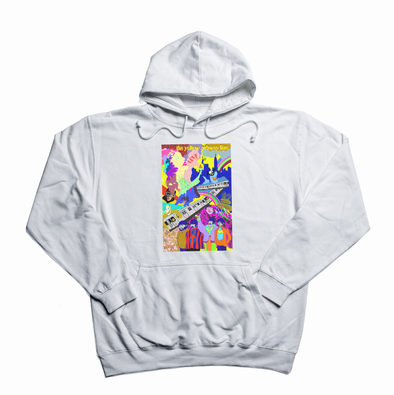 The Yellow Subway Line white hoody