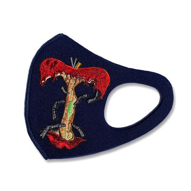 Apple patch mask solid navy