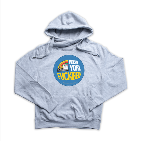 New York Fuckery heather grey Euro Hoody