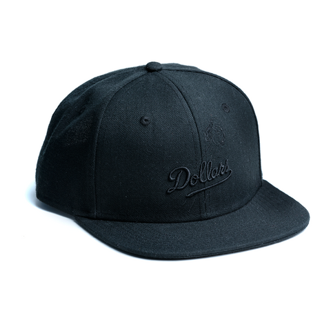 Dollars black on black cap