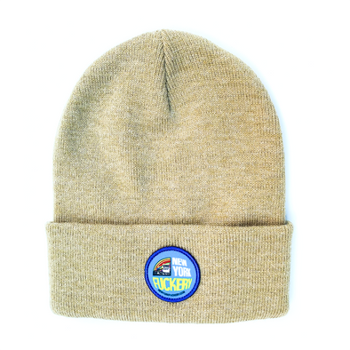 New York Fuckery light brown Carhartt beanie