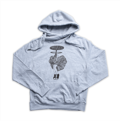 A-Bombshell heather grey Euro Hoody