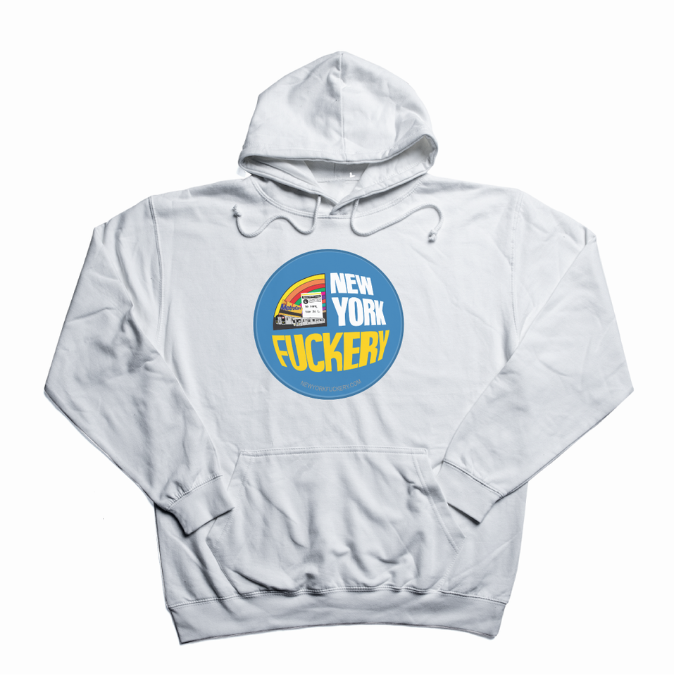 New York Fuckery white hoody