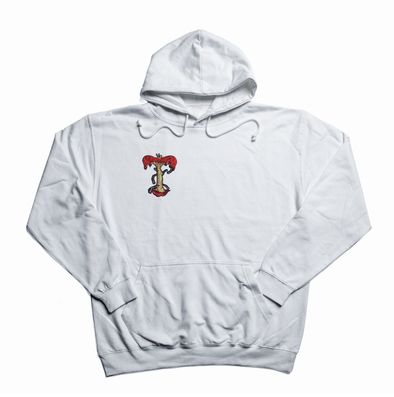 Apple patch white hoody