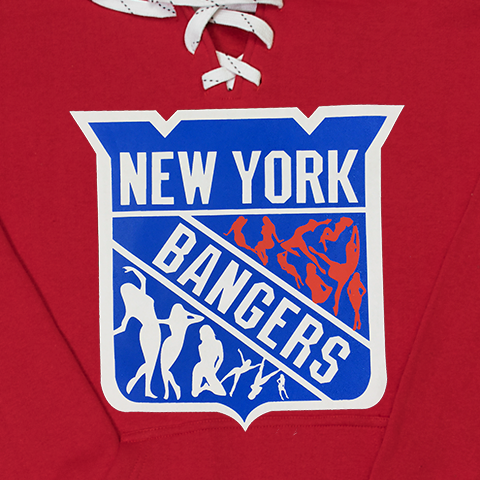 New York Bangers red lace hoody