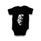 Brooklyn Cassettes black onesie