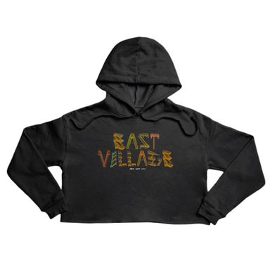 East Village Premium black crop hoody