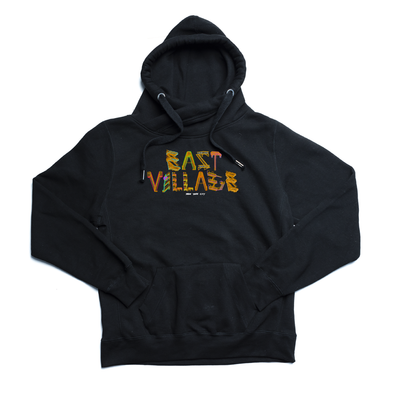 East Village black Euro Hoody