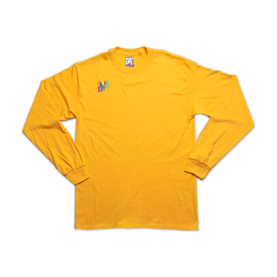 The Yellow Subway Line gold long sleeve tee