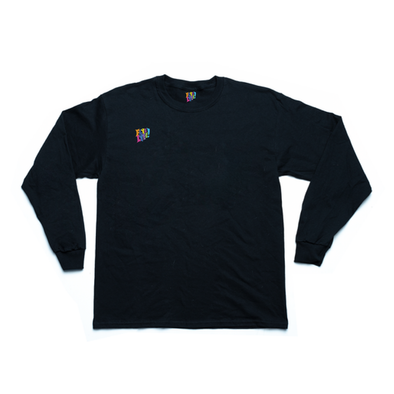 East Village black long sleeve tee
