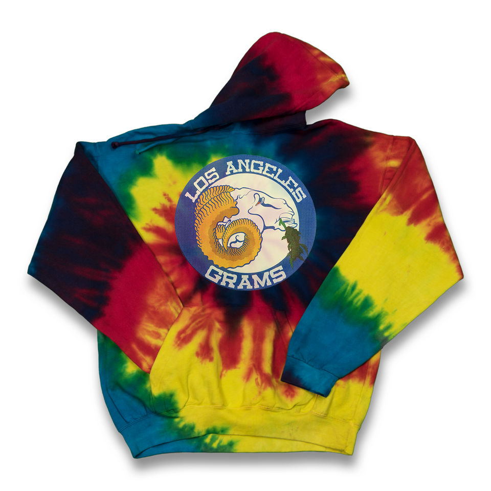 Los Angeles Grams tie dye hoody