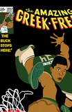 The Amazing Greek Freak print