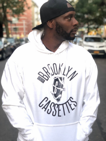 Brooklyn Cassettes white hoody